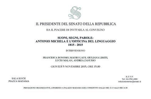 Il CeSAF al senato della Repubblica per Commemorare Antonio Michela Zucco