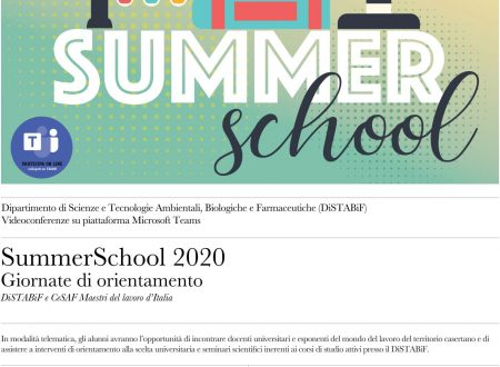 Summer school 2020 con l'Università della Campania in webinar