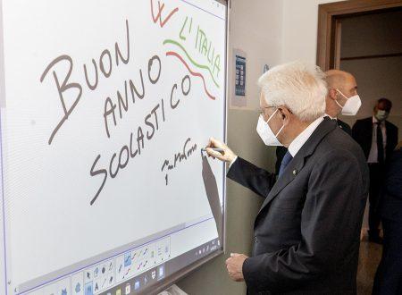 BUON ANNO SCOLASTiCO DAL PRESIDENTE DELLA REPUBBLICA